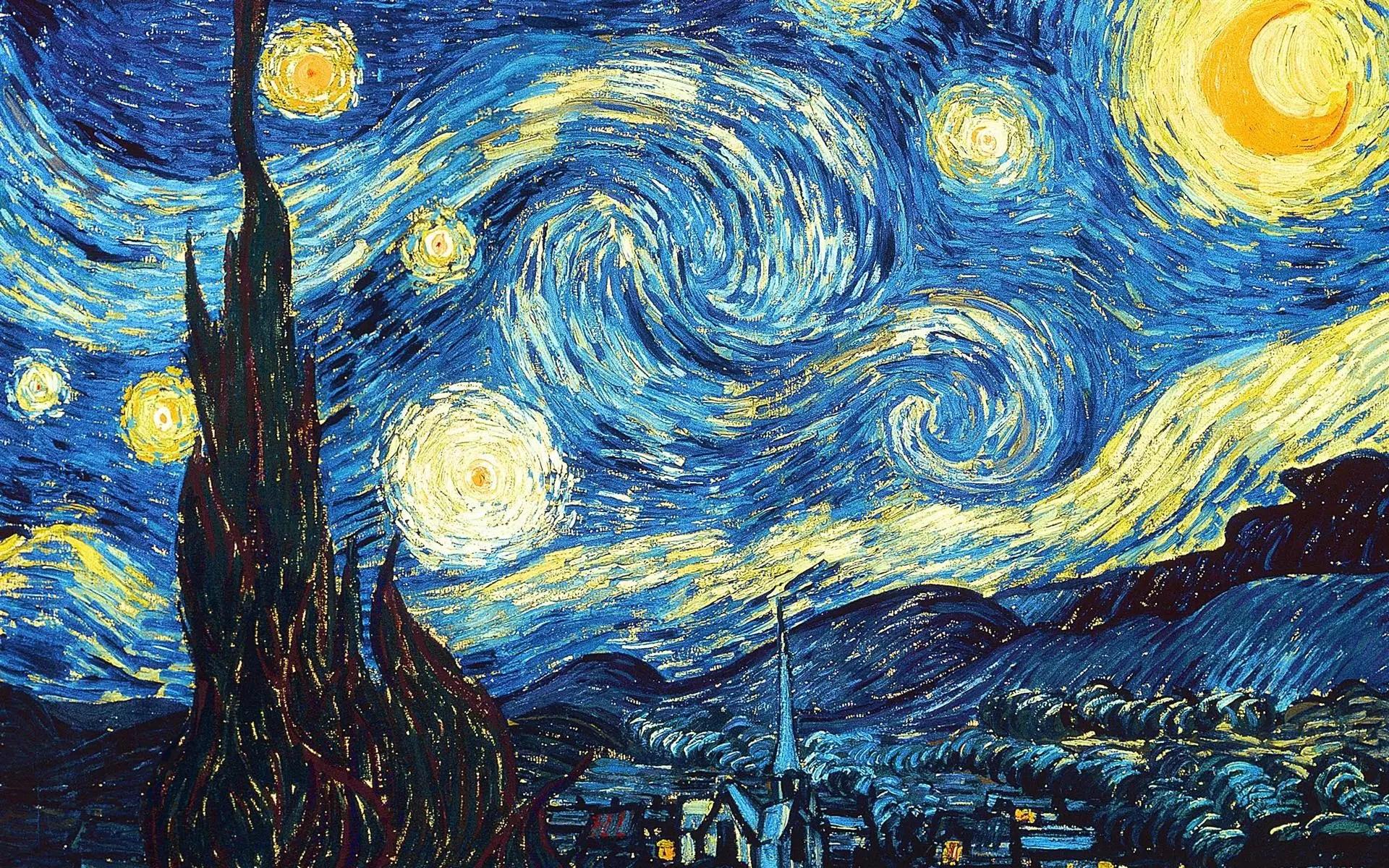 La nuit étoilée de Van Gogh au musée d'art moderne de New York City.
