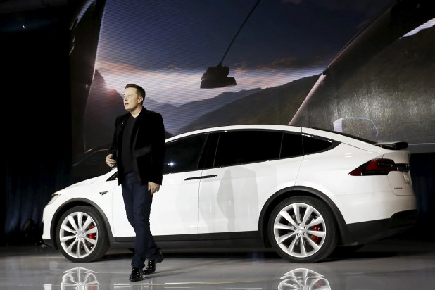 The Model X SUV arrived 3 years late.