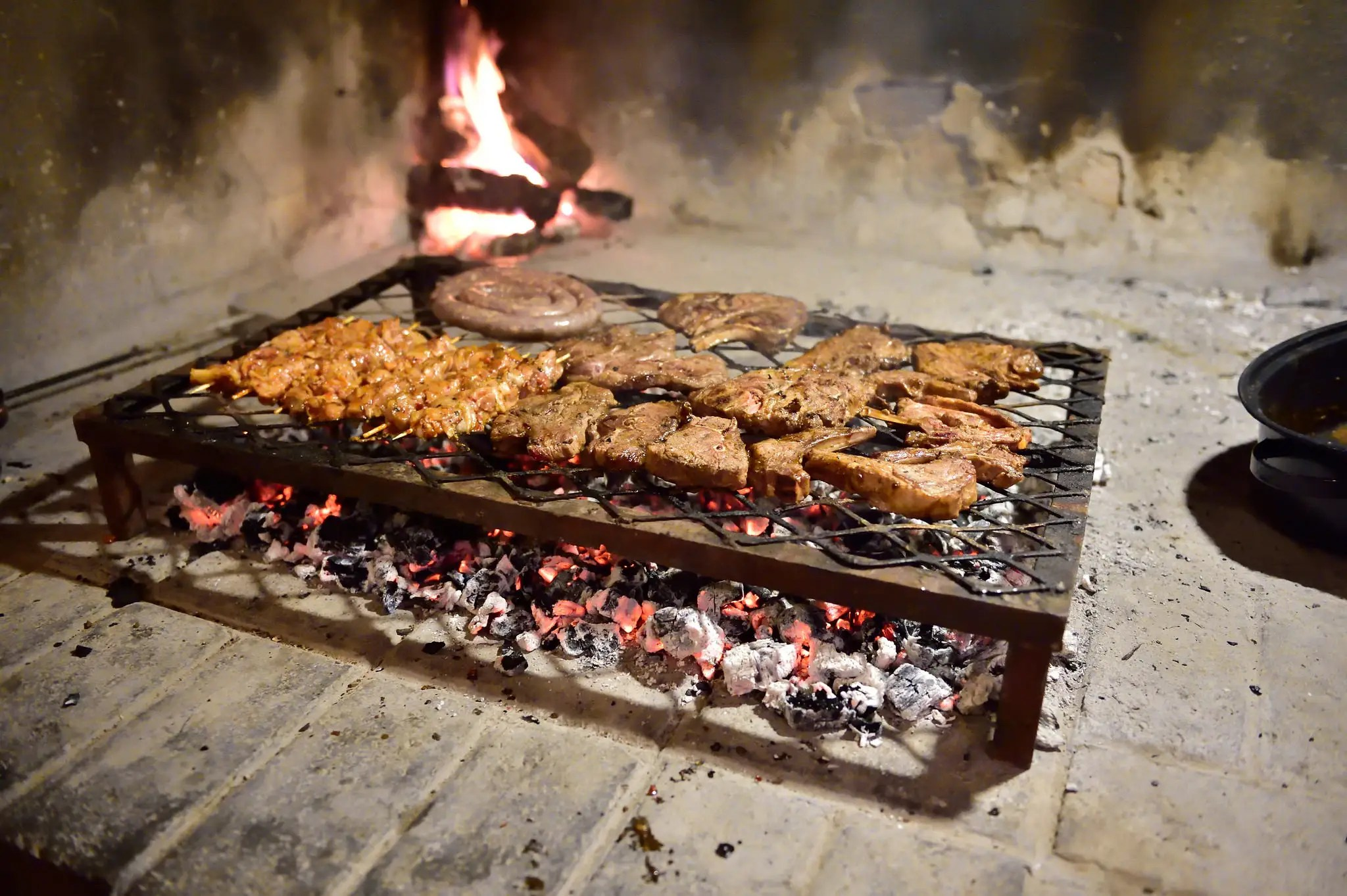 It's summer during Christmas in South Africa, so locals head to the Braai — an African grill — to cook up lamb, turkey, and pork.