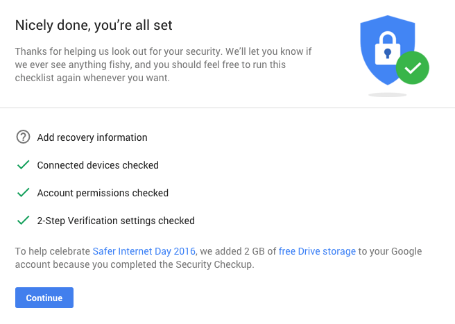 security checkup google drive free