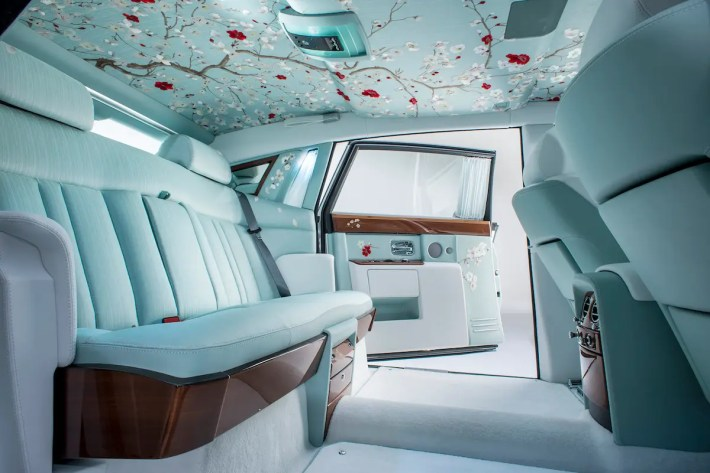 This version is called Serenity and is featured in the Rolls Royce Phantom. The seats are made of silk and the painted details remind you of a Japanese garden.