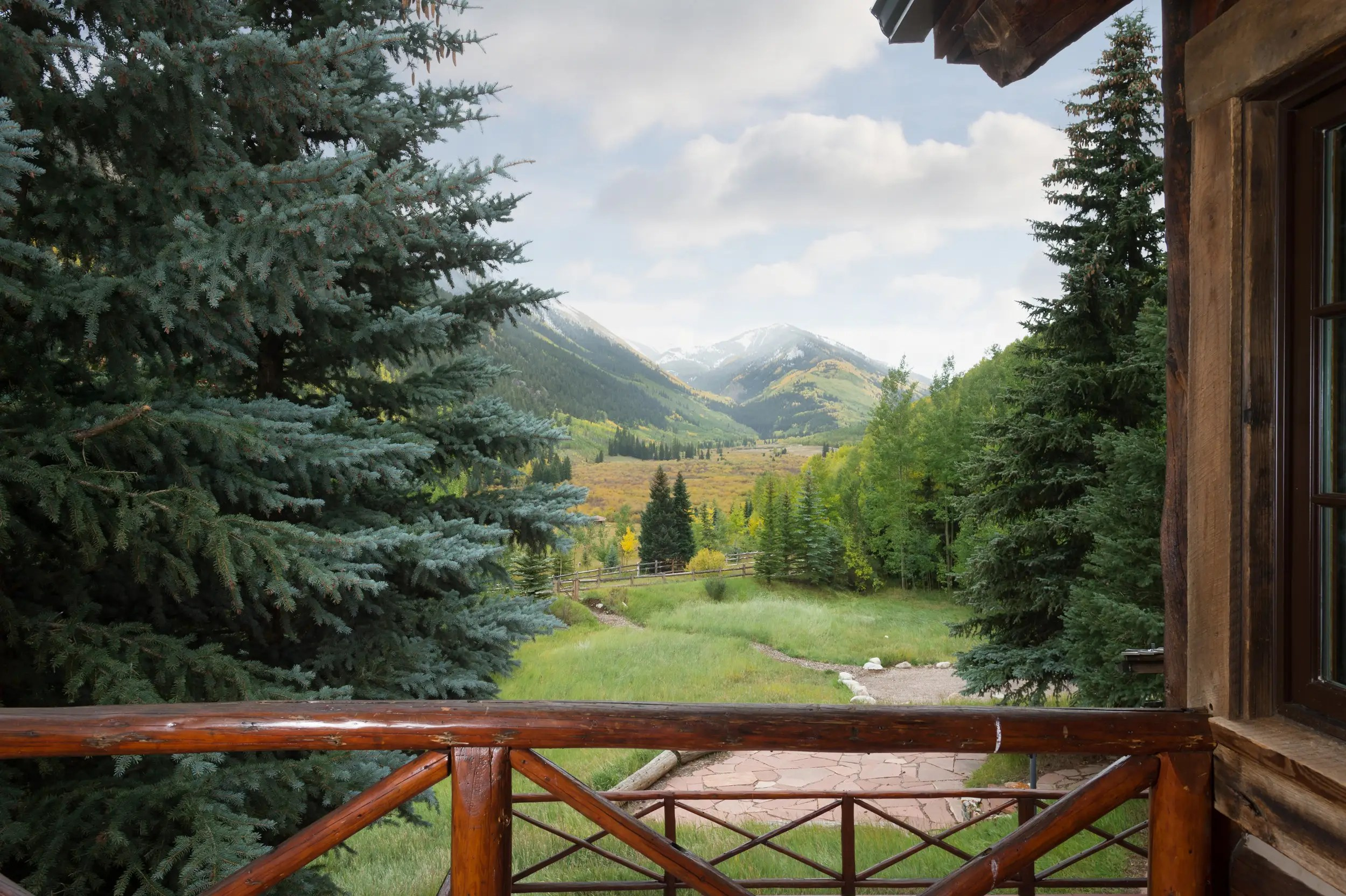 Here's a view over Castle Creek Valley from one of the lodge's guest rooms.