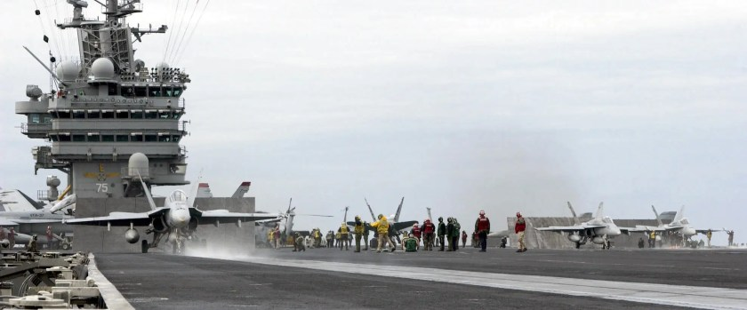 The US has 10 Nimitz-class supercarriers.