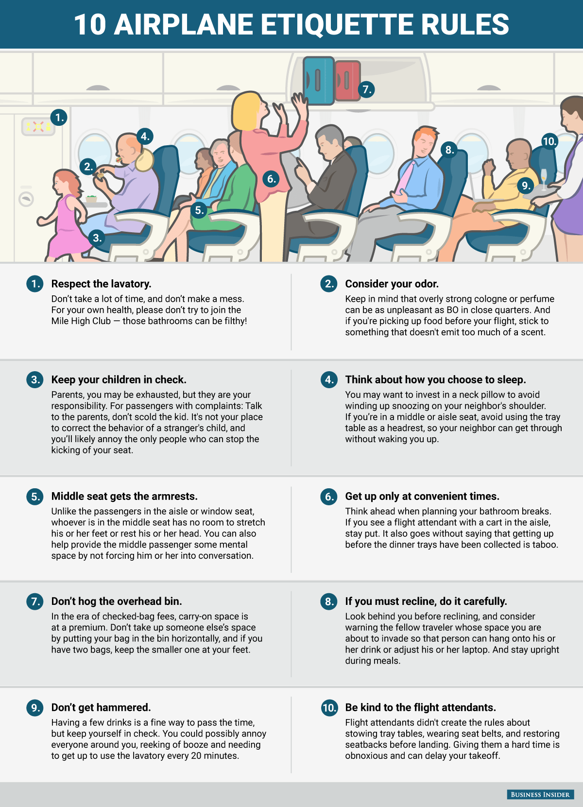Etiquette Rules For Flying