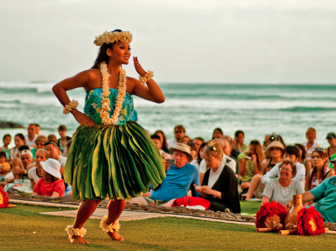 hula dancer beach hawaii