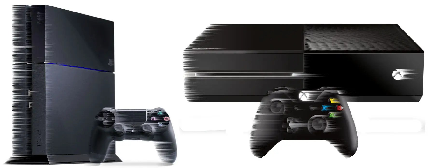 Old Xbox One and Old PlayStation 4