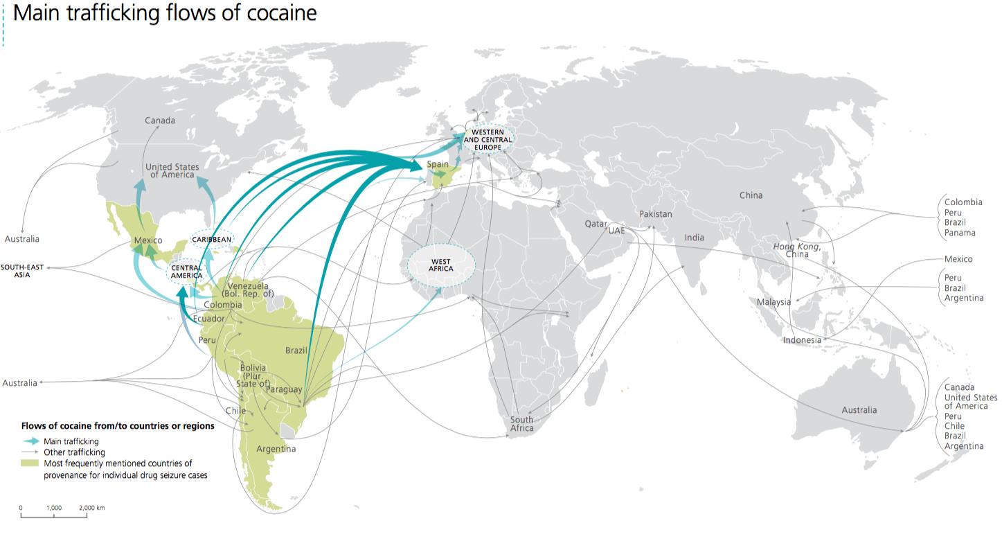 Global cocaine map