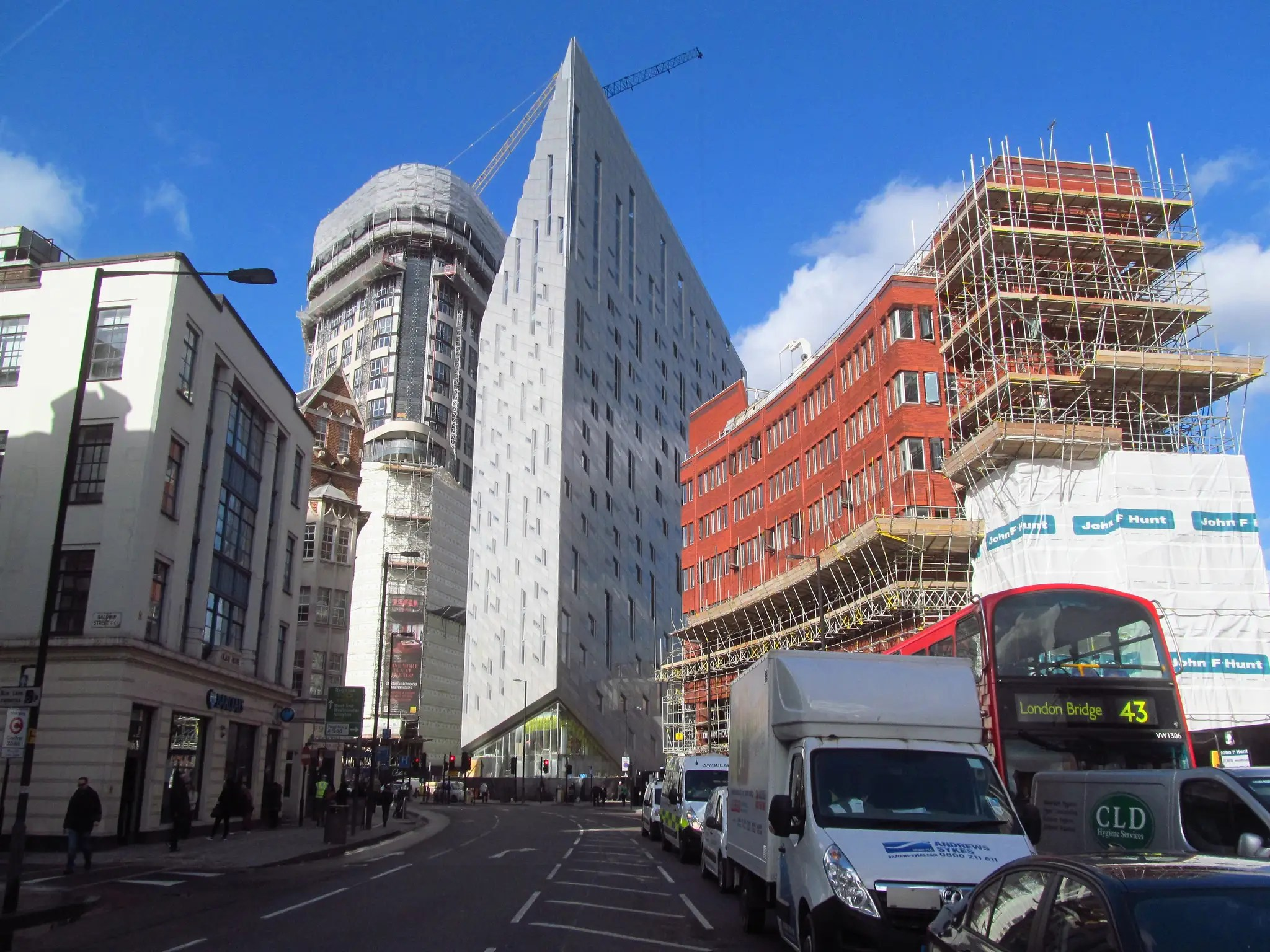 51. The M by Montcalm building in east London provides an optical illusion that leaves passers-by dazzled.