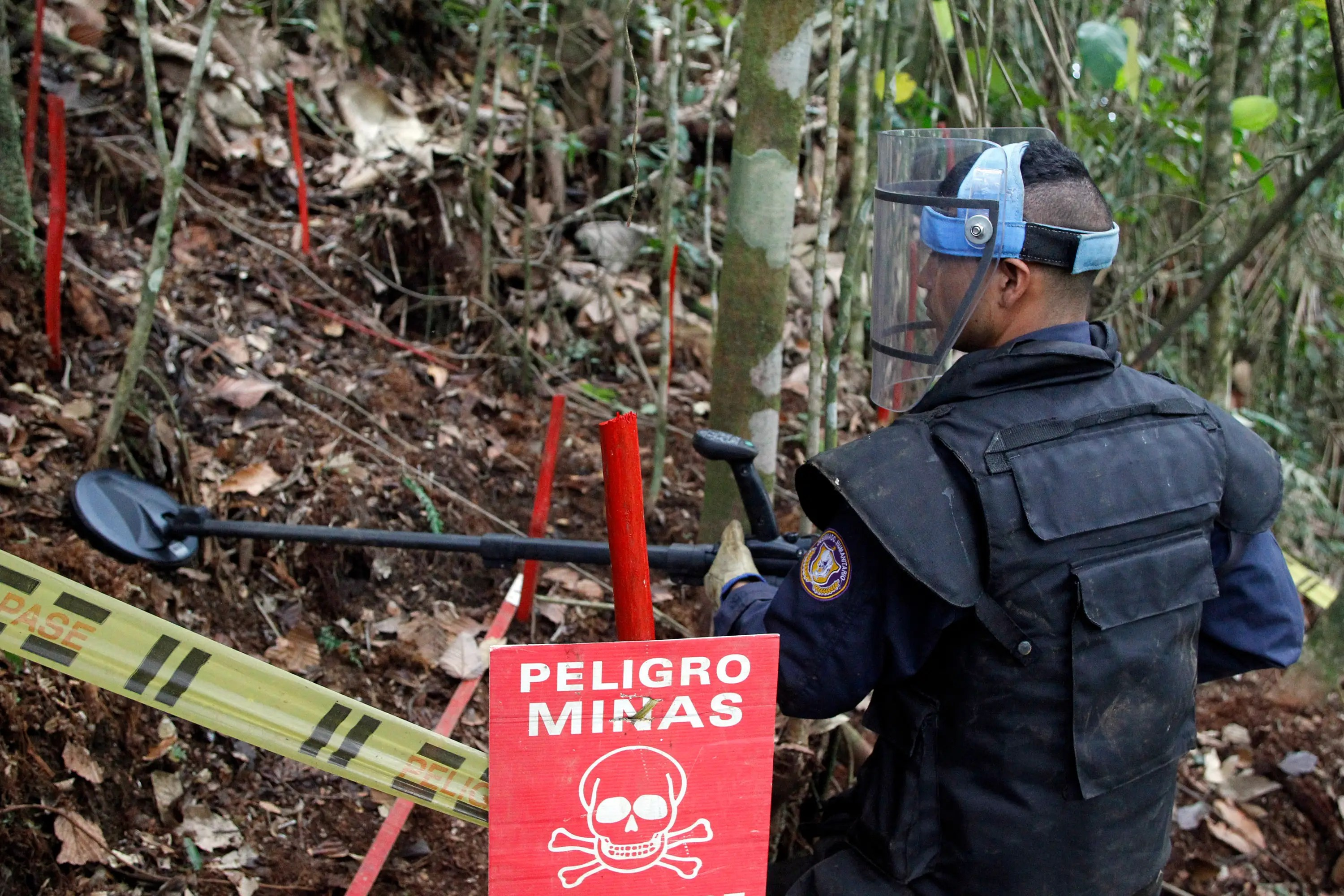 Colombia demining process land mines civil conflict