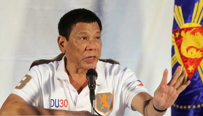 Philippine President Rodrigo Duterte speaks during a news conference in Davao city, southern Philippines August 21, 2016. Picture taken August 21, 2016.  REUTERS/Lean Daval Jr
