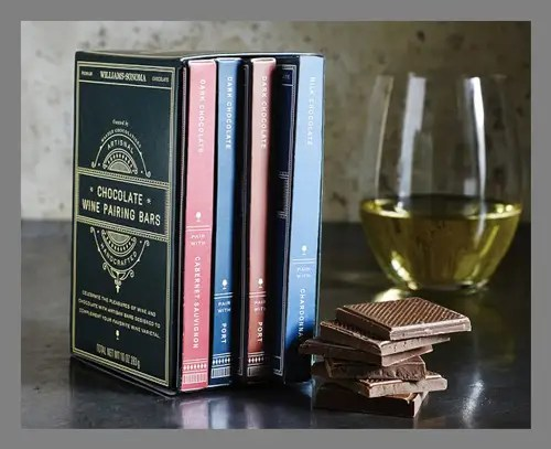 A wine and chocolate pairing kit