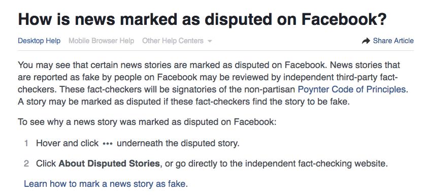 facebook disputed news screenshot
