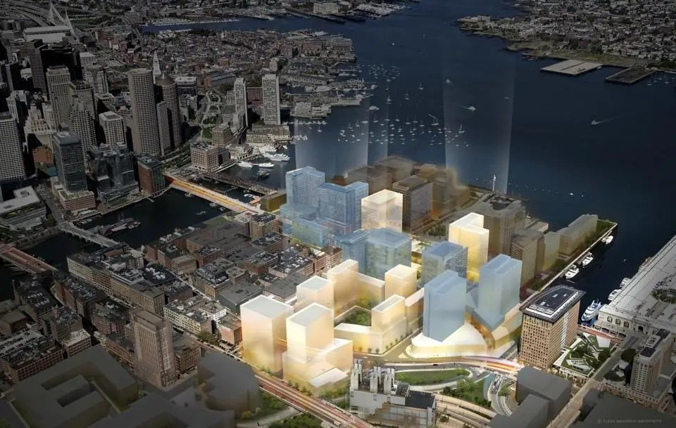 The Seaport District in Boston, Massachusetts.