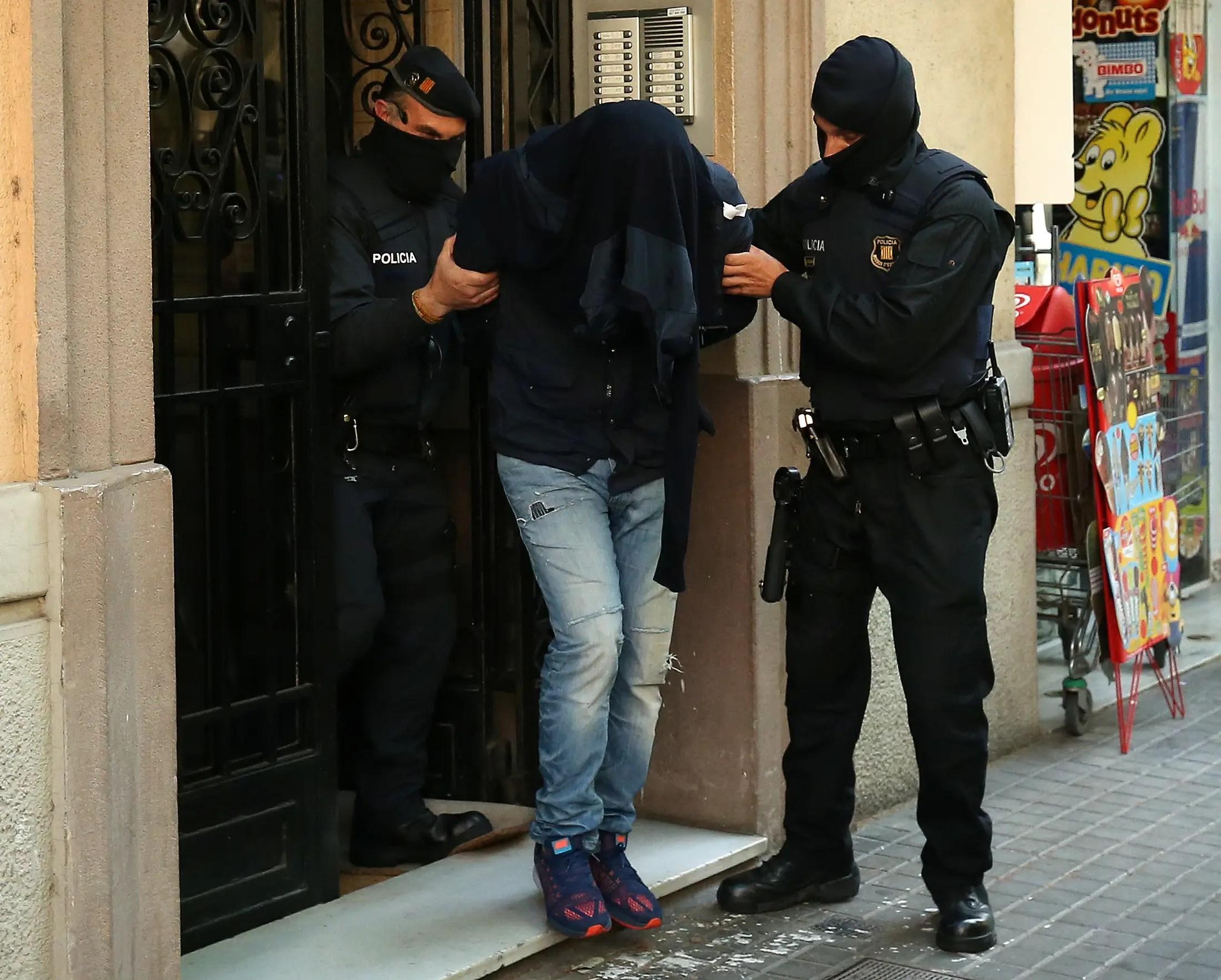 Spain police Barcelona raid Islamist ISIS suspect Belgium