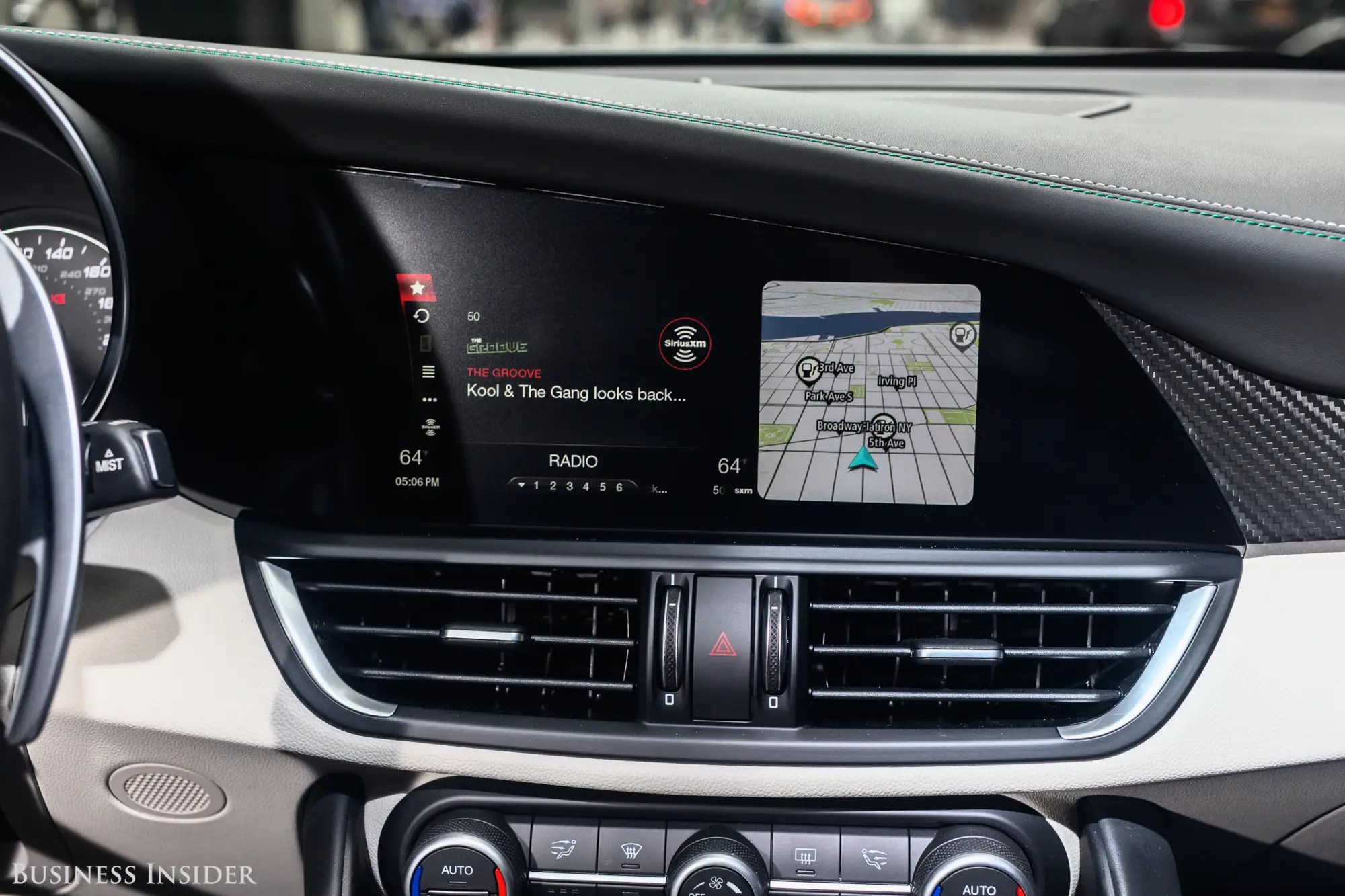 The 8.8-inch infotainment screen occupies most of the middle of the dashboard. It works well — neither as fantastically as Audi's or Cadillac's, but far better than Lexus' infotainment system.
