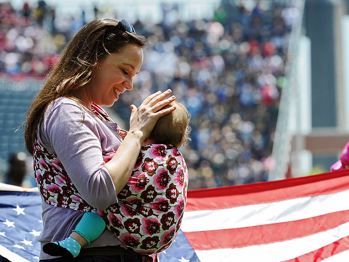 US flag America mothers children babies moms