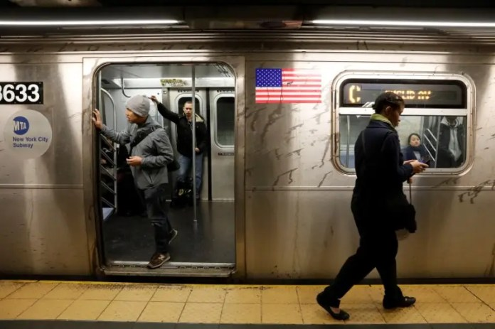 FILE PHOTO: Passengers wait inside a stopped C subway train in New York City after a power failure stopped multiple subway lines during the morning commute in New York, U.S., April 21, 2017. REUTERS/Brendan Mcdermid/File Photo NYC subway reportedly using employee break rooms to store dead bodies NYC subway reportedly using employee break rooms to store dead bodies new york governor cuomo calls on private sector to help fix subways