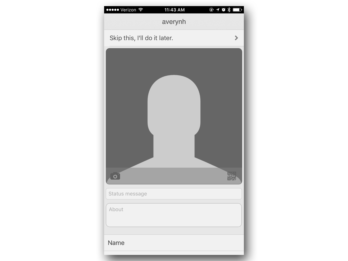 You can provide as much or as little information as you'd like, including a photo, description, and voice greeting.