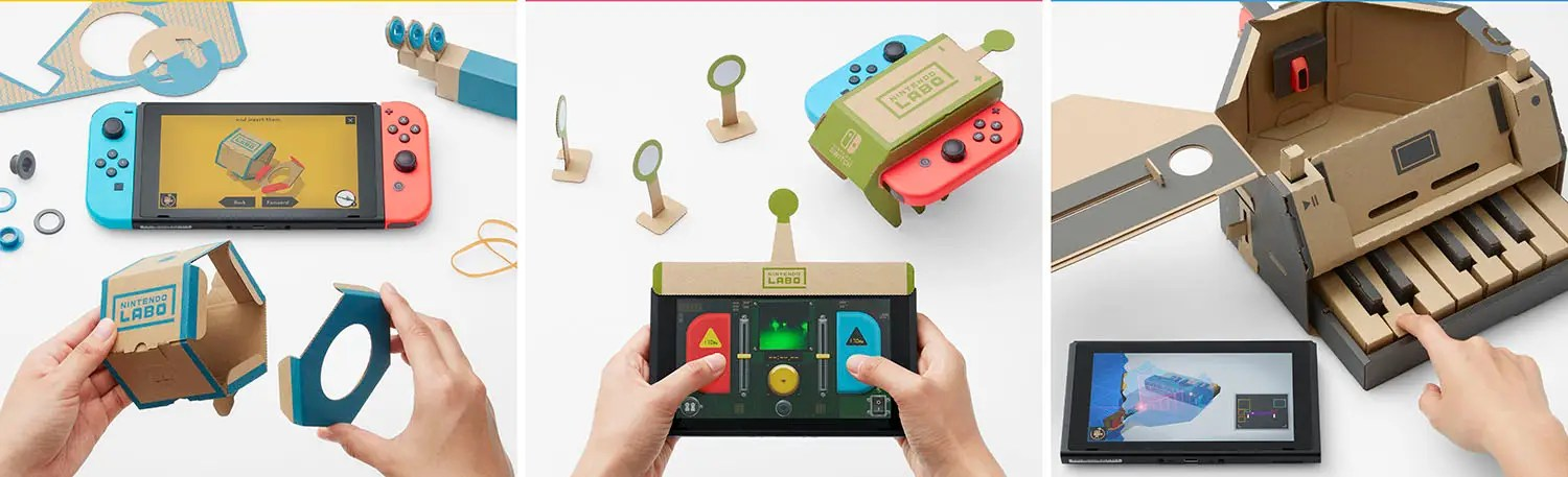 So, what is Labo? It's a DIY construction kit that uses cardboard to turn your Switch into something new.