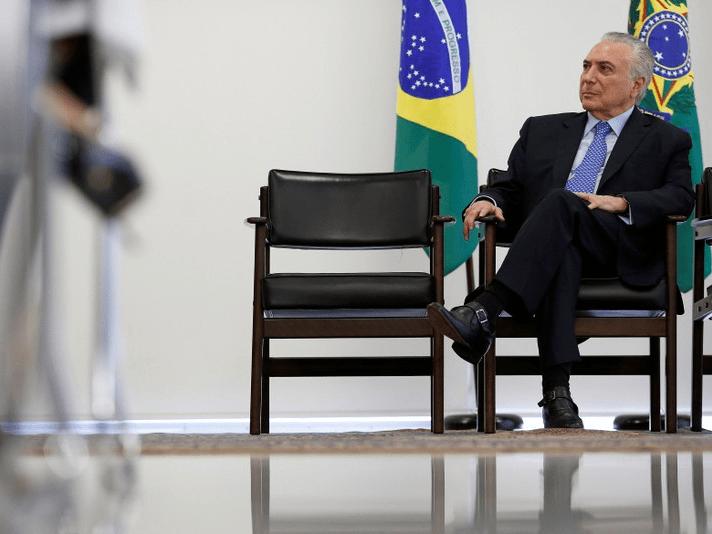 Brazil's President Michel Temer attends a ceremony at Planalto Palace in Brasilia, Brazil, December 6, 2017. REUTERS/Adriano Machado