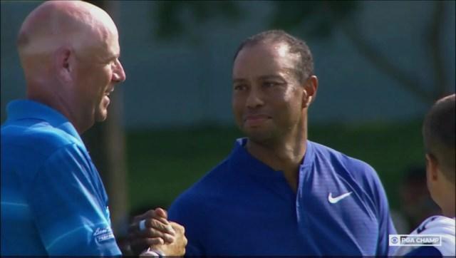 Stewart Cink and Tiger Woods