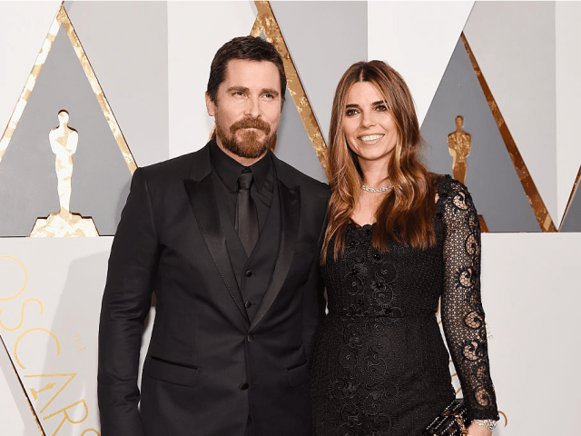 Actor Christian Bale (L) and Sibi Blazic attend the 88th Annual Academy Awards at Hollywood & Highland Center on February 28, 2016 in Hollywood, California.