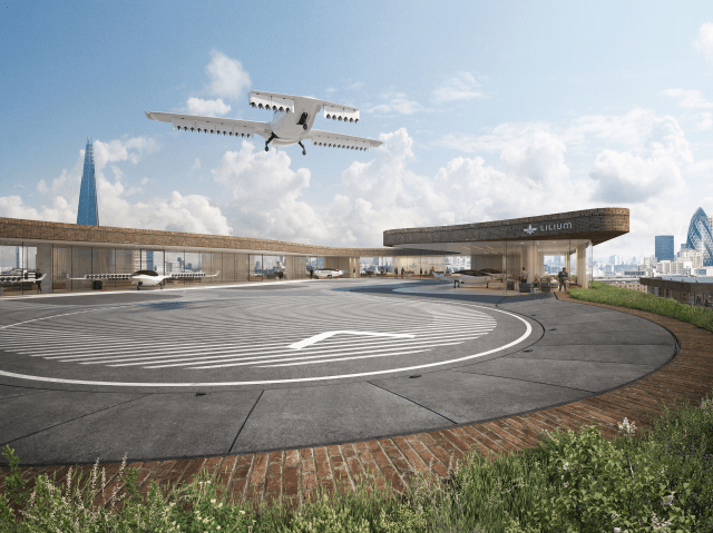 Lilium flying taxi concept