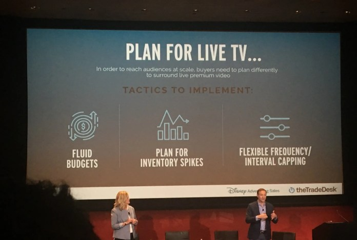 A new pitch deck from Disney and The Trade Desk advises media buyers to change how they plan around live TV like sports (DIS, TTD)