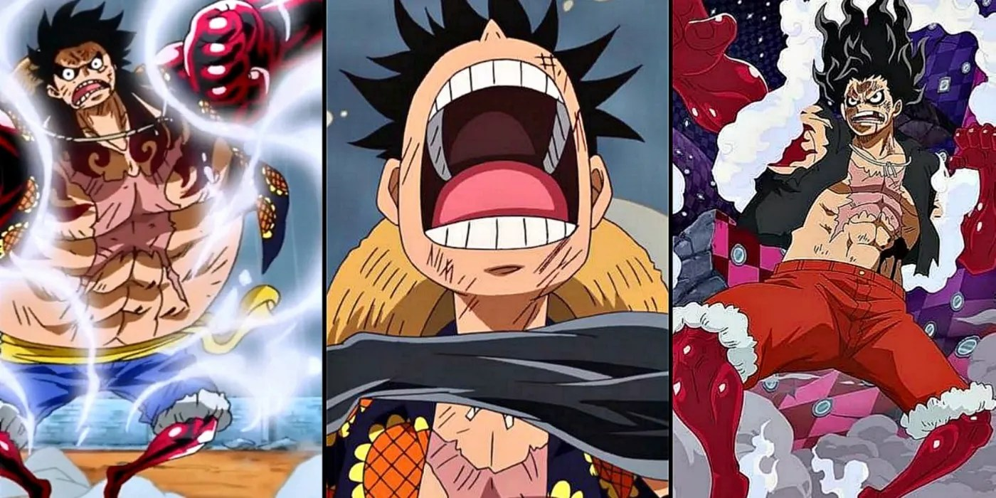Bounce man, tank man and snake man. One Piece All Of Luffy S Gears Ranked By Likability Cbr