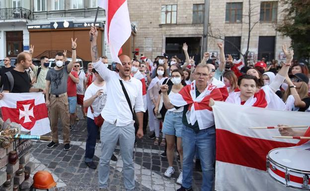 Protests in Minsk against the Alexander Lukashenko regime.