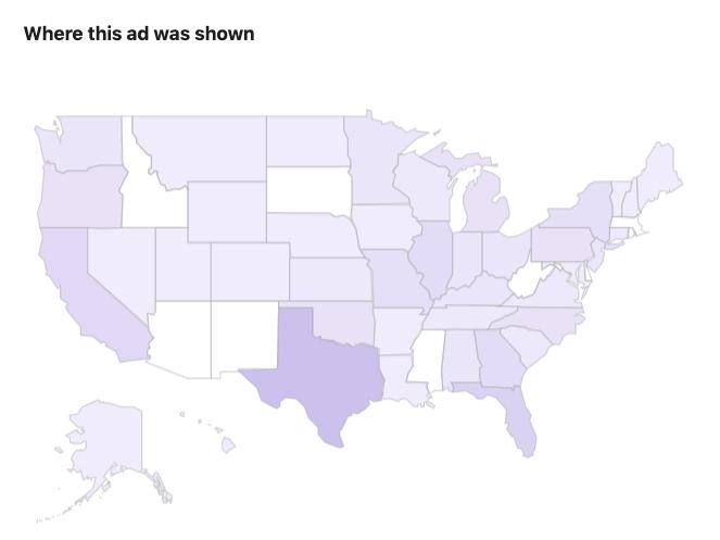 Trump Facebook ad distribution
