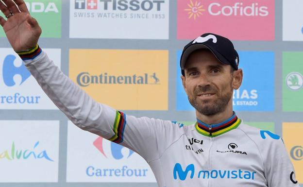 The Murcian cyclist Alejandro Valverde, in a file image.