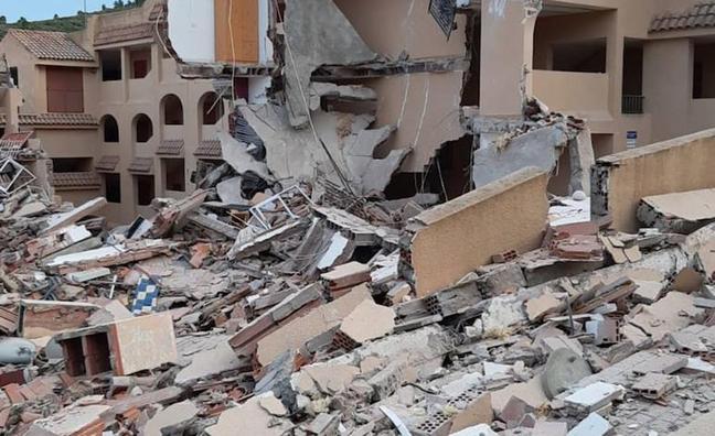 Collapsed building in Peñíscola.