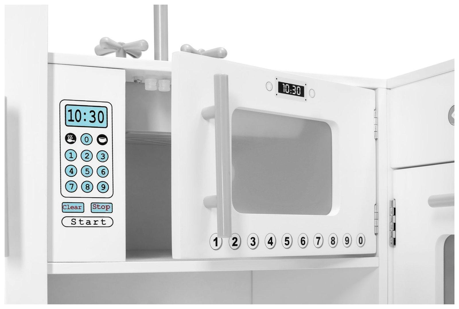 xxxl wooden corner kitchen with fridge oven washing machine apron and accessories