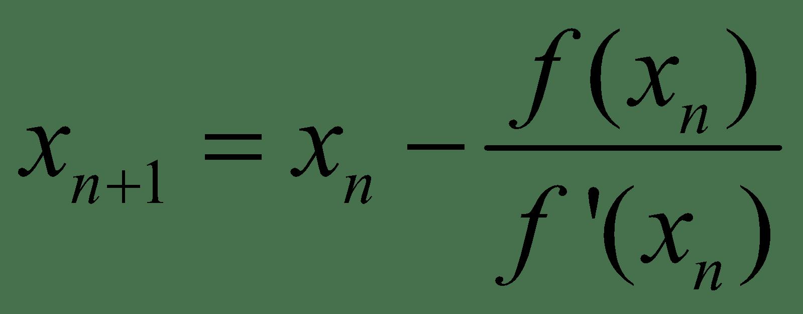 Resultado de imagen para newton raphson formula