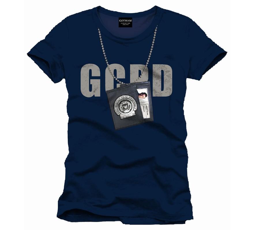 Tee Shirt Bleu Gotham GCPD Badge Batman 2064