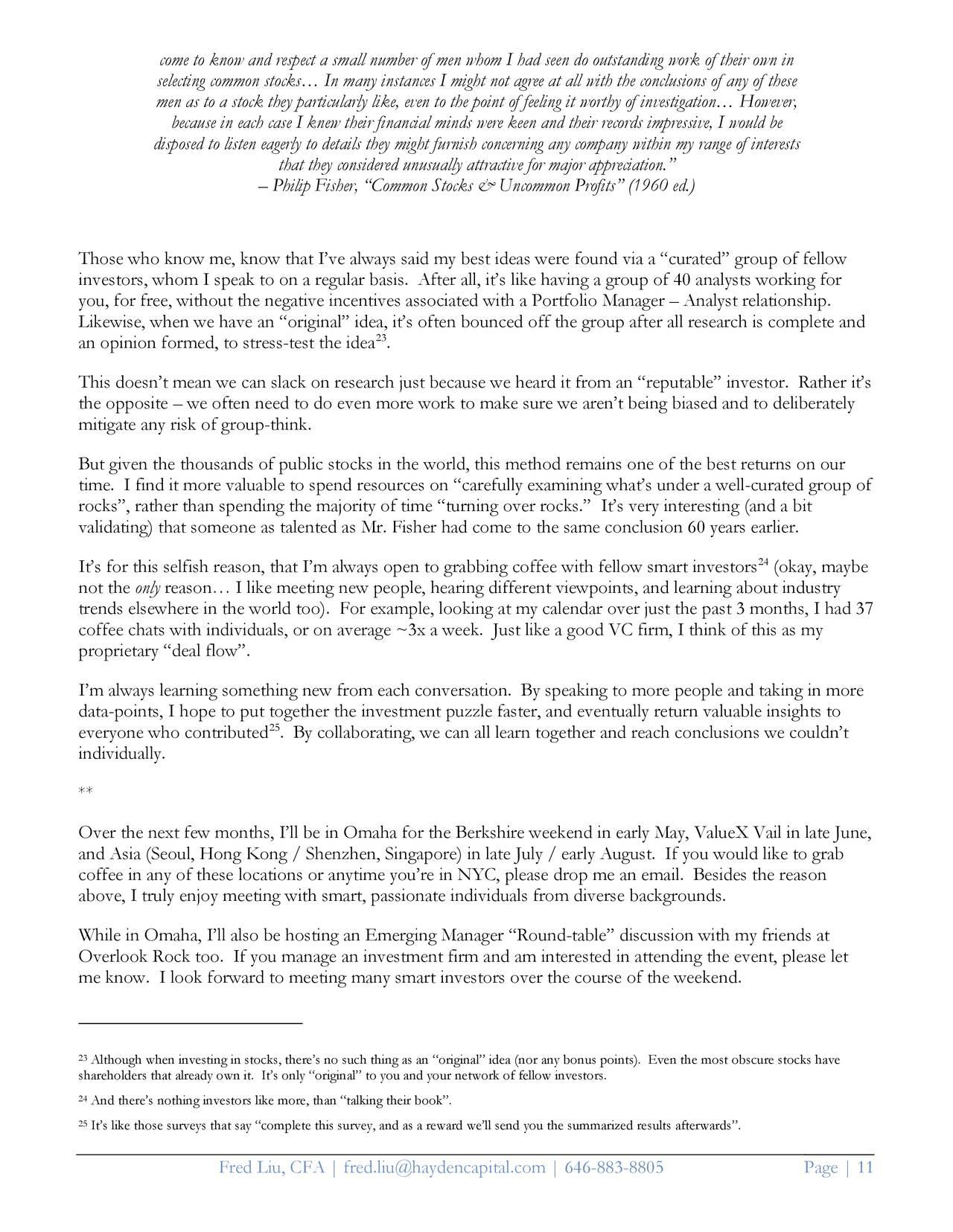 Hayden Capital Quarterly Letter Q1 2018 - JD.com (NASDAQ ...
