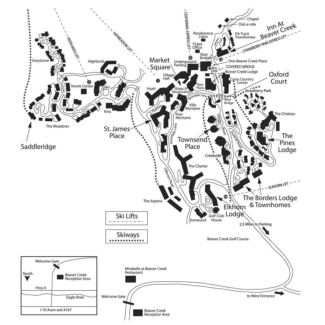 Maps Of Beaver Creek Ski Resort In Usa