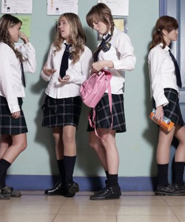 little girls in short skirts