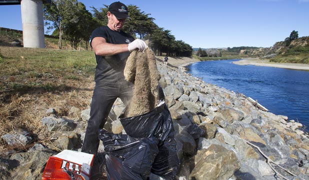 Water-quality monitoring occurs on large rivers close to towns, like the Manawatu, which had a banks clean-up last year.