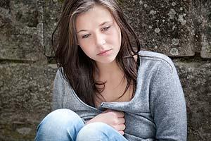 Sad girl strap