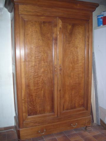 Armoire Louis Philippe Noyer Ancienne Tbe Ameublement