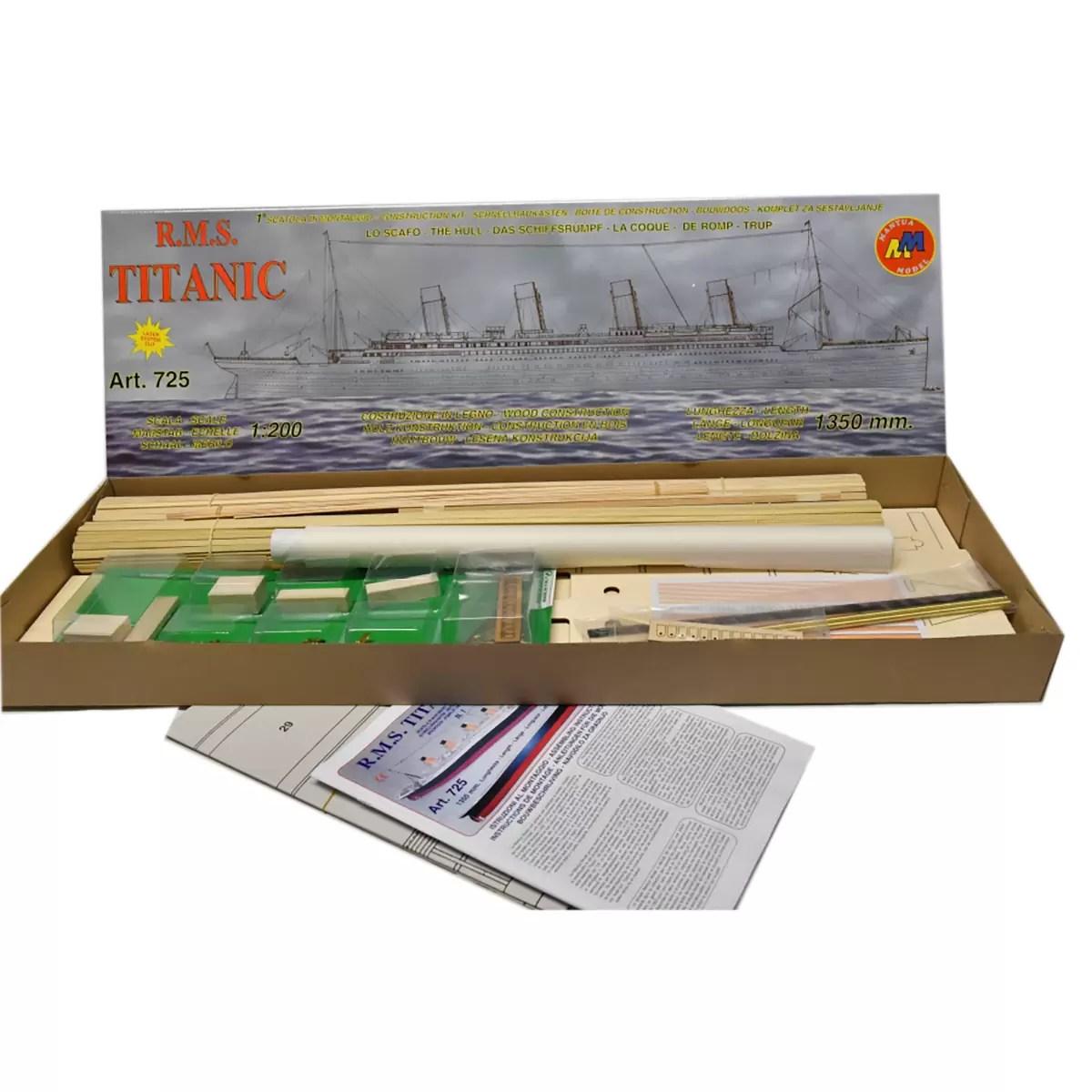 Titanic Kit No.1 hajómakett építőkészlet Mantua