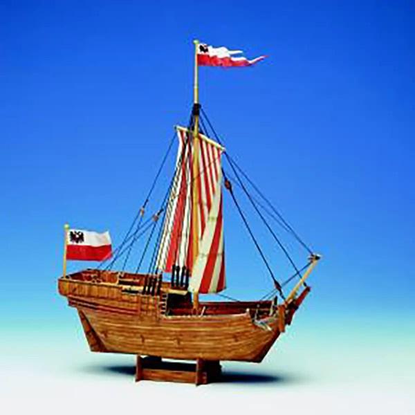 Hanseatic Cog papírmakett Papír hajómakett