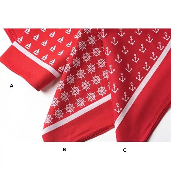 Kendő piros 53 cm Hajós divat, ruházat