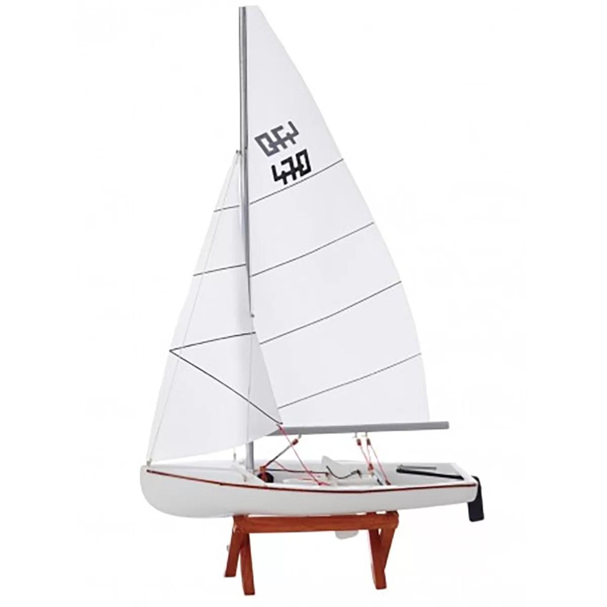 Vitorlás 470 makett L26 Balatoni hajómakett