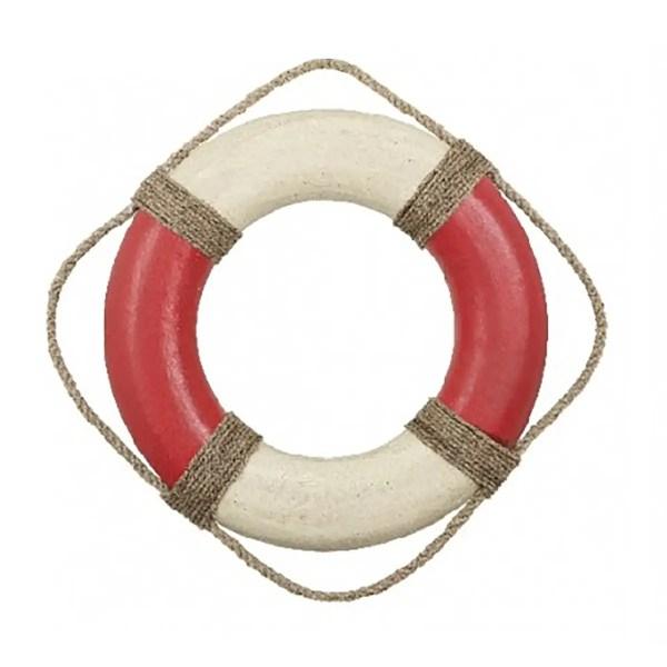 Nosztalgia dekorációs mentőöv piros 50cm Mentőöv