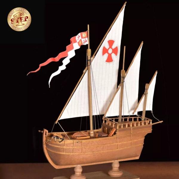 1. lépés Nina hajómakett építőkészlet Amati