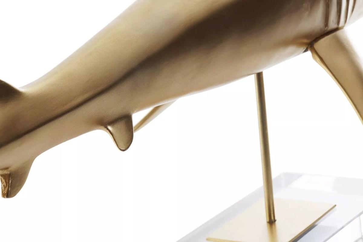 Cápa Arany 79,5cm Mókás figurák, szobrok