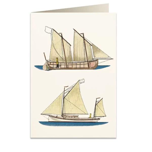 Üdvözlőlap hajós Csomagolópapír